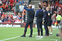 Football - 2018 / 2019 Premier League - AFC Bournemouth vs. Leicester City<br /> <br /> A quick scratch of the head for Bournemouth's Manager Eddie Howe at the Vitality Stadium (Dean Court) Bournemouth <br /> <br /> COLORSPORT/SHAUN BOGGUST