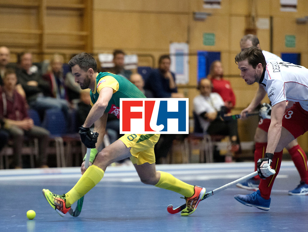 BERLIN - Indoor Hockey World Cup<br /> South Africa - Belgium<br /> foto: Wade Paton <br /> WORLDSPORTPICS COPYRIGHT FRANK UIJLENBROEK