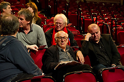 © Copyright licensed to London News Pictures. 18.10/2010. Michael Nyman relaxes before the performance. Musicians and composers from the world of film gather for Concert for Care, Royal Albert Hall, London.