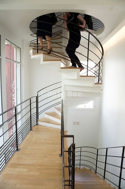 stairwell at the Henri Cartier Bresson Foundation in Paris