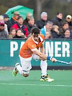 BLOEMENDAAL - Hockey - Bloemendaal-Oranje Rood 3-2. Tim Swaen (Bldaal)  COPYRIGHT KOEN SUYK