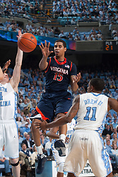 07 February 2009: Virginia Cavaliers guard Sylven Landesberg (15) during a 76-61 loss to the North Carolina Tar Heels at the Dean Smith Center in Chapel Hill, NC.