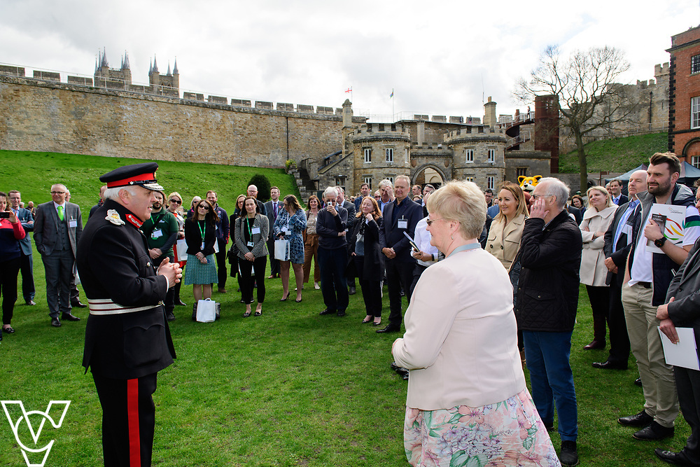 Launch of Active Lincolnshire held at Lincoln Castle.  The CEO of Active Lincolnshire, Janet Inman, receives her British Empire Medal (BEM) from the Lord-Lieutenant of Lincolnshire, Toby Dennis<br /> <br /> Picture: Chris Vaughan Photography for Active Lincolnshire<br /> Date: March 31, 2017