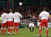 Interim Dundee assistant manager, Matt Lockwood tries his luck from a free kick - Stirling Albion v Dundee, IRN BRU Scottish League 1st Division, Forthbank Stadium, Stirling<br /> <br />  - © David Young<br /> ---<br /> email: david@davidyoungphoto.co.uk<br /> http://www.davidyoungphoto.co.uk