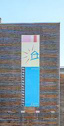 06.12.2017, Jugendsporthaus, Schladming, AUT, im Bild eine Werbeaufschrift auf dem Jugendsporthaus, Internat der Ski-NMS und Ski-Akademie Schladming. Eine Absolventin erhob Vorwürfe, wonach hier sexuelle Übergriffe und Gewalt in Form von Schlagen, Grapschen und Pastern mit einer Drahtbürste stattfanden // The worldwide outing-wave of women to be victims of sexual violence does not stop even before Austria. According to the statements of a anonymous former ski racer the ski school Schladming with the associated boarding gets in focus of the current public discussion. The picture shows the boarding Jugendsporthaus in Schladming, Austria on 2017/12/06. EXPA Pictures © 2017, PhotoCredit: EXPA/ Martin Huber