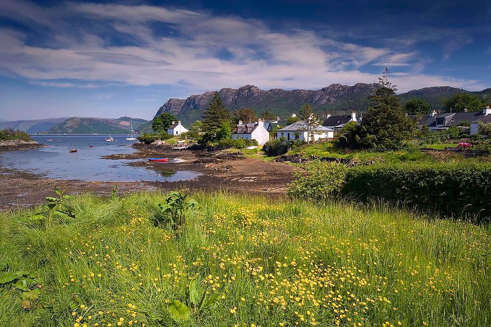 Plockton village on the shore of Loch Carron, N/W Highlands