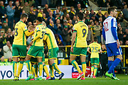Norwich City forward Alex Pritchard (21) scores a goal and celebrates to make the score 1-0 during the EFL Sky Bet Championship match between Norwich City and Brighton and Hove Albion at Carrow Road, Norwich, England on 21 April 2017. Photo by Simon Davies.