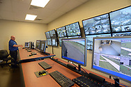 Grid Incident Manager Walter Grunder speaks about the security cameras at the facility during a tour through the newest prison in Pennsylvania Friday, September 01, 2017 at State Correction Institution Phoenix in Skippack, Pennsylvania. The facility is inching closer to opening, two years late, to replace Graterford Prison at a cost of $400 million. (Photo by William Thomas Cain/CAIN IMAGES)