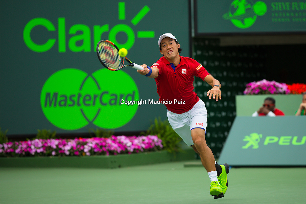 Miami, FL -  Day 2 of the Miami Open 2016 in Crandon Park Tennis Center.