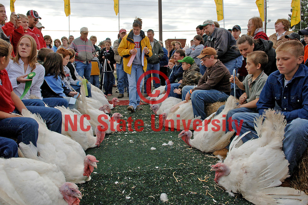About 200 students participated in the Youth Turkey show during the NC State fair in October 2006. .Becky Kirkland photos.