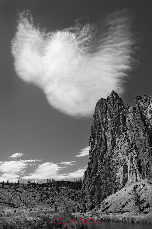 Clouds over Smith Rocks in central Oregon.