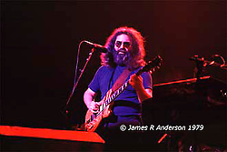 Jerry Garcia.  The Grateful Dead Performing at Shea's Buffalo Theater, New York 20 January 1979<br /> Contact Photographer for High Resolution File if purchasing Rights Managed Usage.