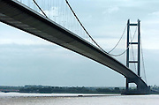 12 June 2005: The Humber Bridge  tower where a woman and small child are thought to have jumped into the river below. They were both rescued by emergency services. A pram was found on the footpath on the bridge (below tower pictured)..Picture:Sean Spencer/hullnews.co.uk 01482 210267/07976 433960.www.hullnews.co.uk.©Sean Spencer/Hull News & Pictures Ltd.NUJ recommended terms & conditions apply. Moral rights asserted under Copyright Designs & Patents Act 1988. Credit is required. No part of this photo to be stored, reproduced, manipulated or transmitted by any means without permission. .