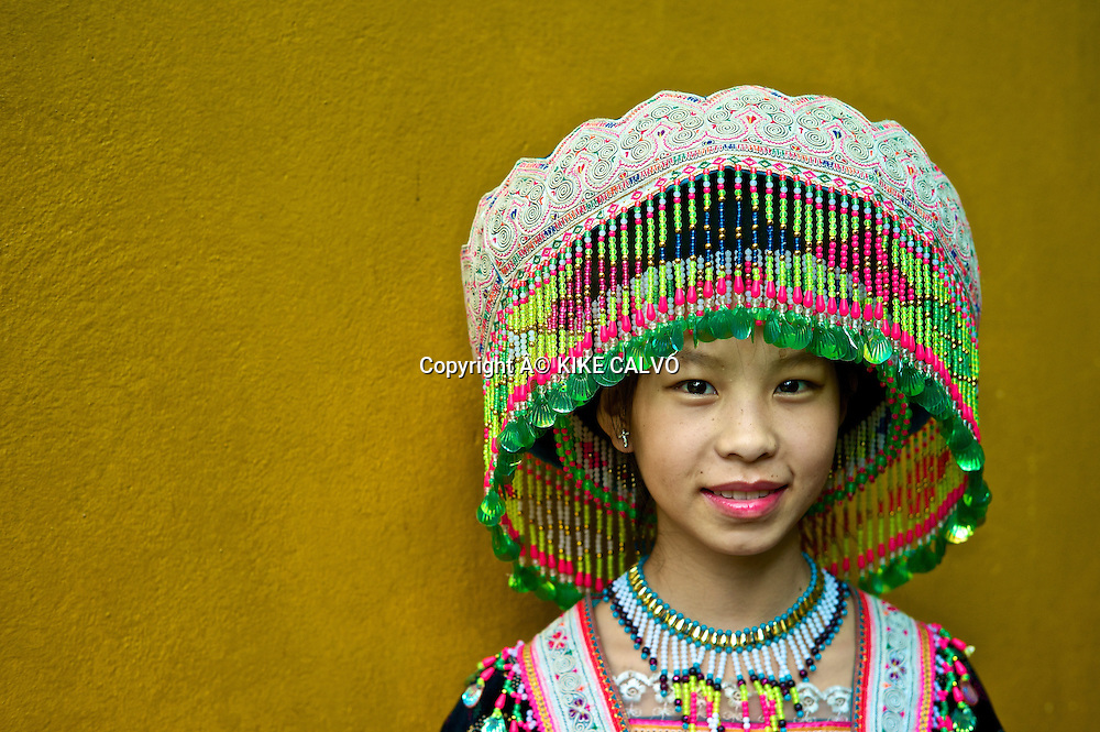 Hmong bride wedding dress, originally from China.