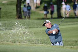 August 10, 2018 - Town And Country, Missouri, U.S - JASON DUFNER from Auburn Alabama, USA  hits out of the bunker on the fourth hole during round two of the 100th PGA Championship on Friday, August 10, 2018, held at Bellerive Country Club in Town and Country, MO (Photo credit Richard Ulreich / ZUMA Press) (Credit Image: © Richard Ulreich via ZUMA Wire)