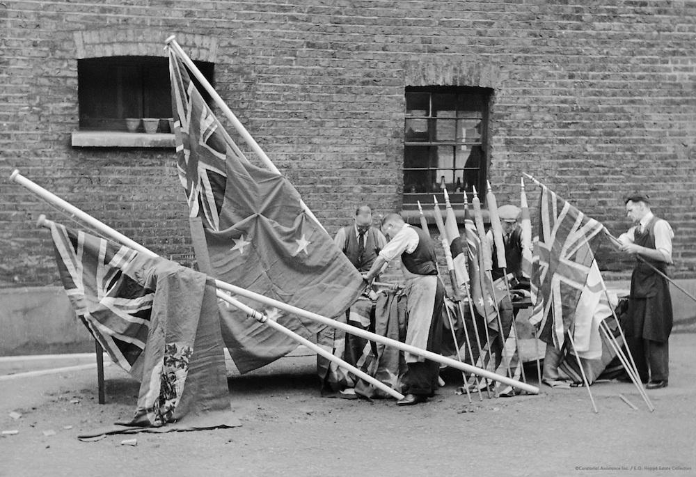 Flag Making for the Coronation, Whiteley's, London, 1935