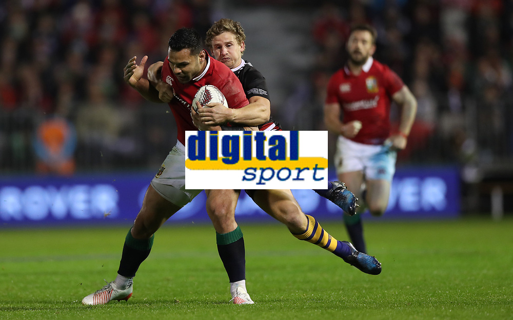 Rugby Union - 2017 British & Irish Lions Tour of New Zealand - New Zealand Provincial Barbarians vs. British & Irish Lions<br /> <br /> Ben Te'o of The British and Irish Lions hold off Richard Judd of New Zealand Provincial Barbarians during the match at Toll Stadium [Okara Park], Whangarei.<br /> <br /> COLORSPORT/LYNNE CAMERON
