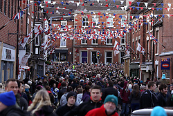 Ashbourne High Street as the hug goes through the town - Mandatory byline: Robbie Stephenson/JMP - 09/02/2016 - FOOTBALL -  - Ashbourne, England - Up'Ards v Down'Ards - Royal Shrovetide Football