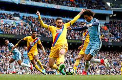 Leroy Sane of Manchester City fires a shot at goal  - Mandatory by-line: Matt McNulty/JMP - 06/05/2017 - FOOTBALL - Etihad Stadium - Manchester, England - Manchester City v Crystal Palace - Premier League