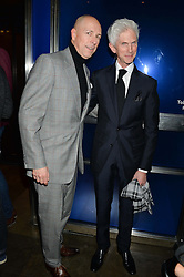 Left to right, DYLAN JONES and RICHARD BUCKLEY at a dinner hosted by Anya Hindmarch and Dylan Jones to celebrate the end London Collections: Men 2014 held at Hakkasan, 8 Hanway Place, London on 8th January 2014.