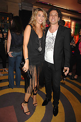 STEPHEN & ASSIA WEBSTER at a party to launch a new collection of jewellery by Stephen Webster for De Beers entitles 'Burning Rocks' held at The Bloomsbury Ballroom, Bloomsbury Square, London WC1 on 26th June 2007.<br />