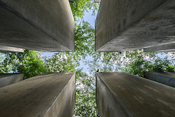 The Garden of Exiles at the Jewish Museum in Kreuzberg Berlin Germany