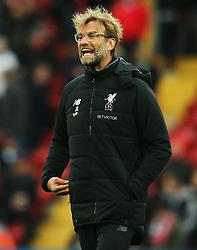 Liverpool manager Jurgen Klopp shouts - Mandatory by-line: Matt McNulty/JMP - 28/10/2017 - FOOTBALL - Anfield - Liverpool, England - Liverpool v Huddersfield Town - Premier League