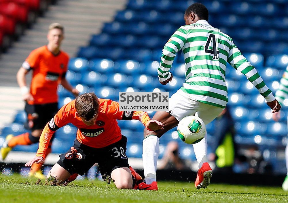 Dundee United v Celtic Scottish Cup Semi Final.Ryan Gauld stumbles under pressure from Efe Ambrose......(c) STEPHEN LAWSON | StockPix.eu
