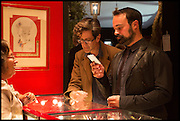 EVGENY LEBEDEV (R) at the preview of LAPADA Art and Antiques Fair. Berkeley Sq. London. 23 September 2014.