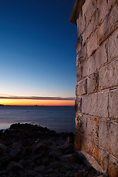 The outer wall at Fort McClary in Kittery, Maine.