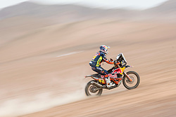 Matthias Walkner (AUT) of Red Bull KTM Factory Team races during stage 04 of Rally Dakar 2019 from Arequipa to o Tacna, Peru on January 10, 2019 // Marcelo Maragni/Red Bull Content Pool // AP-1Y39EMYZS1W11 // Usage for editorial use only // Please go to www.redbullcontentpool.com for further information. //