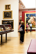 People visiting permanent collection of Granet Museum in Aix-en-Provence, France.
