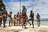 Performance of the snake dance. The snake dance is a traditional dance which takes place on special occations for the inhabitabts of Rah Lava Island. These days it is often performed for the visiting tourists. Rah Lava Island, Torba Province, Vanuatu
