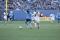 March 11, 2018 - New York, New York, United States - David Villa (7) of NYC FC controls ball during regular MLS game against LA Galaxy at Yankee stadium NYC FC won 2 - 1 (Credit Image: © Lev Radin/Pacific Press via ZUMA Wire)