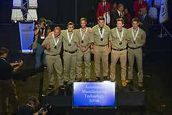 The 2017 SkillsUSA National Leadership and Skills Conference Competition Medalists were announced Friday, June 23, 2017 at Freedom Hall in Louisville. <br /> <br /> Automated Manufacturing Technology<br /> <br /> Team I (consisting of Salvador Alcala, William Kipp, Madison Gigliotti)<br />   High School McCann Technical High School<br />   Gold North Adams, MA<br /> Automated Manufacturing TechnologyTeam B (consisting of Logan Bruneau, Tobias Schmidt, Jake Stein)<br />   High School S &amp; W Washtenaw Consortium<br />   Silver Saline, MI<br /> Automated Manufacturing TechnologyTeam H (consisting of Sudarshan Kadalazhi, Tomas Ponce, Dylan Hulstedt)<br />   High School Paradise Valley High School<br />   Bronze Phoenix, AZ<br /> Automated Manufacturing TechnologyTeam J (consisting of Peter Prombo-Cates, Matthew Roderick, Patrick McDermott)<br />   College Ranken Tech College<br />   Gold Saint Louis, MO<br /> Automated Manufacturing TechnologyTeam O (consisting of Quacy Wilson, Jason Hall, Tucker Hildreth)<br />   College Gillette College<br />   Silver Gillette, WY<br /> Automated Manufacturing TechnologyTeam D (consisting of Trevor Purdy, Elijah Buist, Andrew Ketchum)<br />   College Ferris State University<br />   Bronze Big Rapids, MI