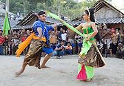 A dance during a Labuhan ceremony at the house of Mbah Maridjan depicts the balance between the Merapi spirits and the sea goddess Nyai Loro Kidul.