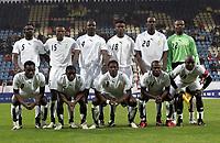Fotball<br /> Foran VM 2006<br /> Tyrkia v Ghana<br /> Foto: imago/Digitalsport<br /> NORWAY ONLY<br /> <br /> 26.05.2006<br /> <br /> Lagbilde Ghana<br /> Mannschaftsfoto Ghana: hi.v.li.: John Mensah, John Pantsil, Samuel Osei Kuffour, Eric Addo, Otto Addo, Torwart Richard Kingson; vorn: Mickael Essien, Emmanuel Pappoe, Asamoah Gyan, Matthew Amoah und Stephen Appiah