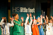 His Little Feet, a choir of orphaned children from around the world, performs at Spring Valley United Methodist Church on Wednesday, March 6, 2013. (Cooper Neill/The Dallas Morning News)