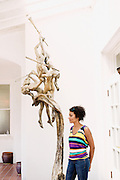 HOT SPRINGS, AR – JUNE 28, 2013: Brittany Jackson is curator at the Museum of Contemporary Art on historic Bathhouse Row.