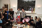 VALERIA NAPOLEONE; JOE SCOTLAND, Valeria and Gregorio Napoleone and Joe Scotland host a dinner at therir home in Kensington  in celebration of Sol  Calero's commission at Studio Voltaire.  London. 13 October 2015