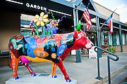 MOOQUET, a piece in CowParade by Terrel Powell, Austin, Texas, August 2, 2010.  CowParade is considered to be the largest and most recognized public art event in the world. Starting July 2011, about 100 cows painted by local artists went on display throughout Austin.