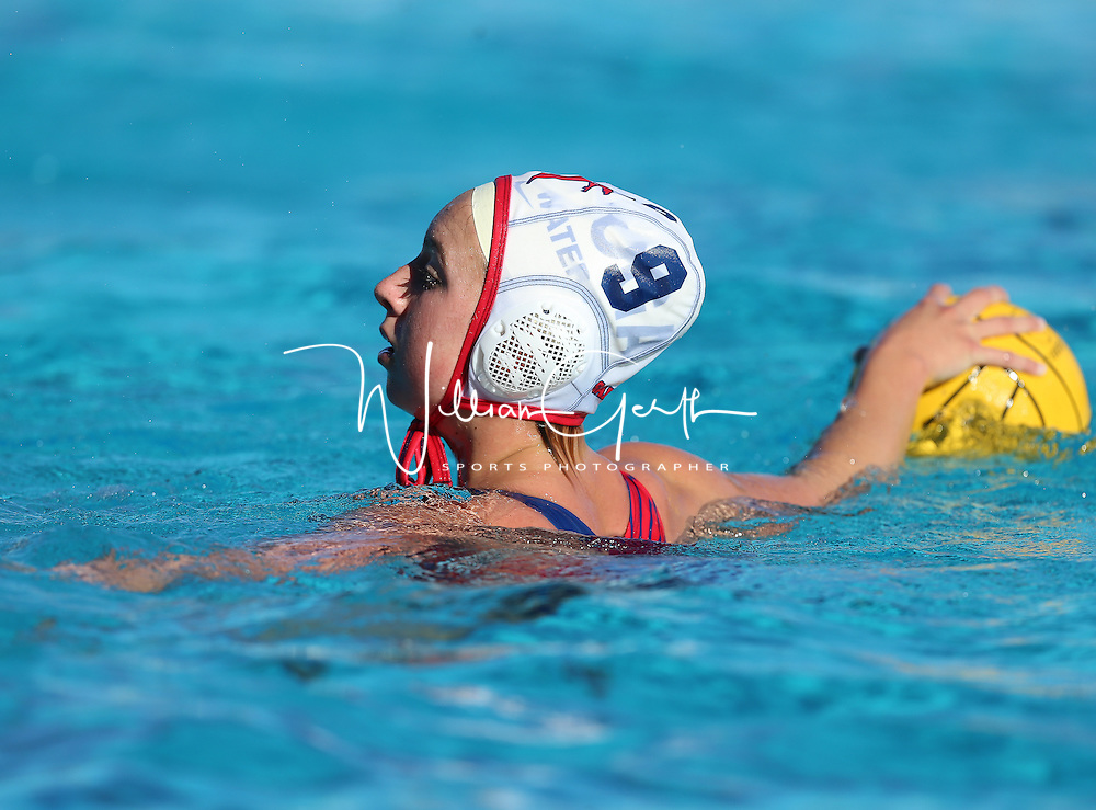 (Photograph by Bill Gerth for SVCN) Saratoga vs Homestead in a SCVAL Girls Water Polo match at Homestead High School, Sunnyvale CA on 10/20/16.  (Homestead 3 Saratoga 2)