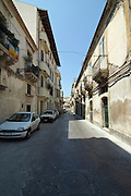 Via Larga the main street of the old town of Siracusa, Syracuse, Sicily, Italy, July 2006