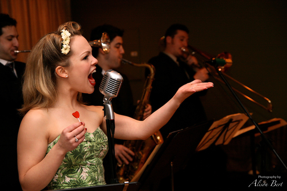 Kate Bartoldus performs with Lady Luck and the Suicide Kings at You Should Be Dancing in Manhattan.