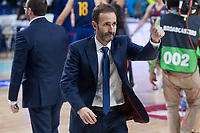 FC Barcelona Lassa coach Sito Alonso during Liga Endesa match between Real Madrid and FC Barcelona Lassa at Wizink Center in Madrid, Spain. November 12, 2017. (ALTERPHOTOS/Borja B.Hojas)