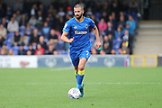 AFC Wimbledon defender George Francomb (7) dribbling during the EFL Sky Bet League 1 match between AFC Wimbledon and Rochdale at the Cherry Red Records Stadium, Kingston, England on 30 September 2017. Photo by Matthew Redman.