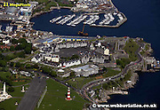 aerial photograph of the Citadel Plymouth Devon , England UK