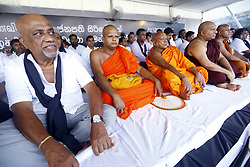November 21, 2018 - Colombo, Sri Lanka - Sri Lankan civil rights activists, trade union members,MP's from Uniter National party and religious clergy take part in a '' continuous Satyagraha '' or continuous peaceful demonstration against president Maithripala Sirisena at Colombo, Sri Lanka Wednesday 21 November 2018.  The protesters claimed that '' President Sirisena's constitutional violence brought country in danger  (Credit Image: © Tharaka Basnayaka/NurPhoto via ZUMA Press)