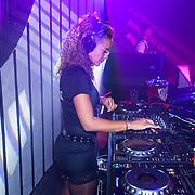 NLD/Almere/20130830 - Opening Club Cell in Almere, Fajah Lourens achter de draaitafel