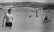 Teenagers in the sea, San Antonio, Ibiza, Spain, 1984